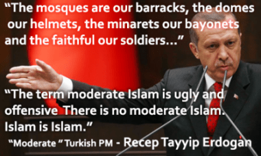 Image result for pic of erdogan there is no such thing as moderate islam