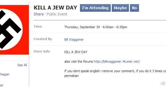 Facebook Kill a Jew day