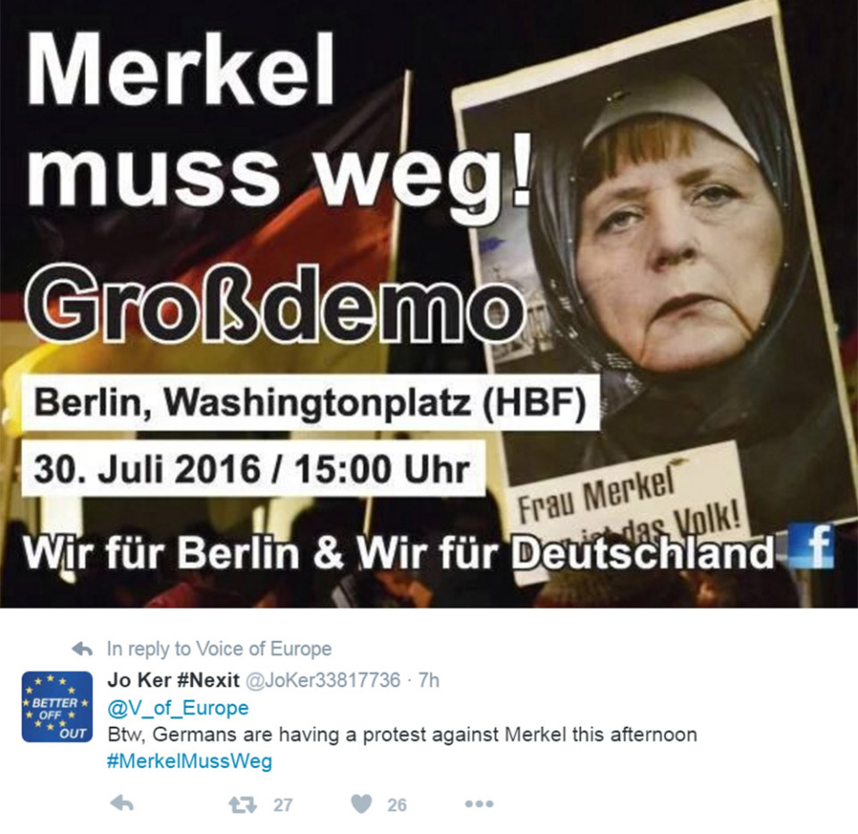 Merkel must go - protests