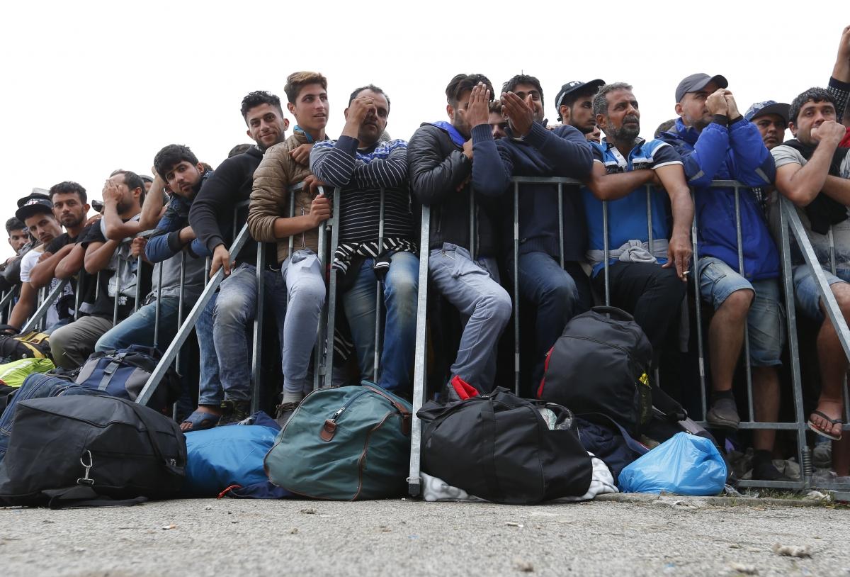 Eslovenia-refugiados de las fronteras