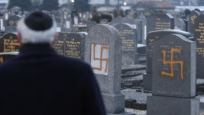 Muslims have been painting Nazi swastikas Jewish cemeteries all over France