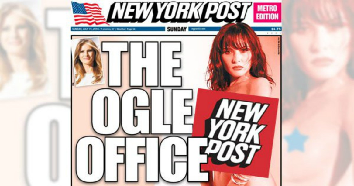 New-York-Post-Features-Naked-Photo-of-Melania-Trump-on-Sunday-Cover