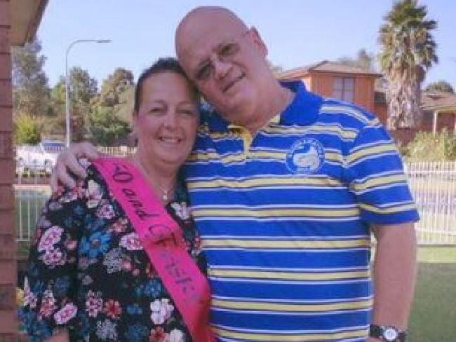 Victim Wayne Greenhalgh with his wife Bronwyn