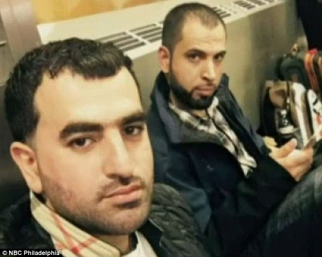 Maher Khalil (left) and his friend Anas Ayyad (right) were stopped from boarding a flight