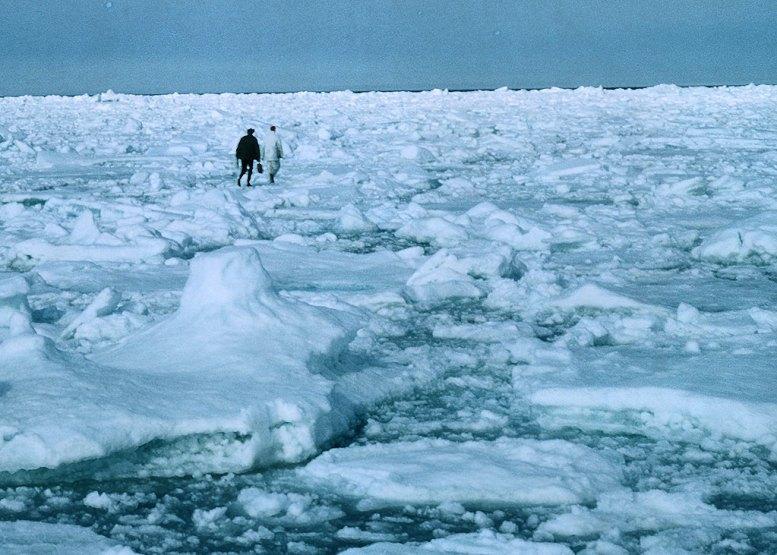 Icy Barents sea