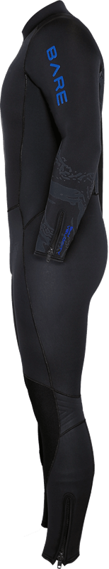 Velocity Ultra 5mm Full Wetsuit - Blue Side