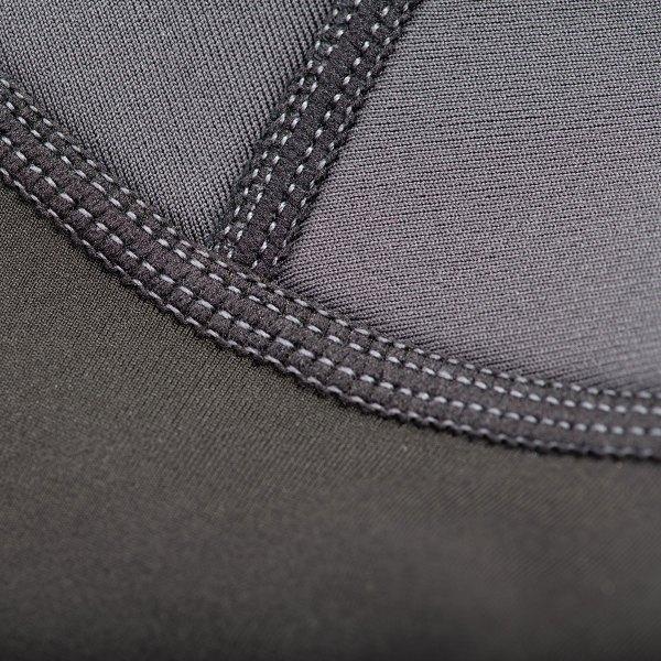Exowear Hooded Vest Strech Seams Detail