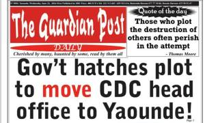 Moving CDC Head Office to Yaounde and The Endeley Predictions