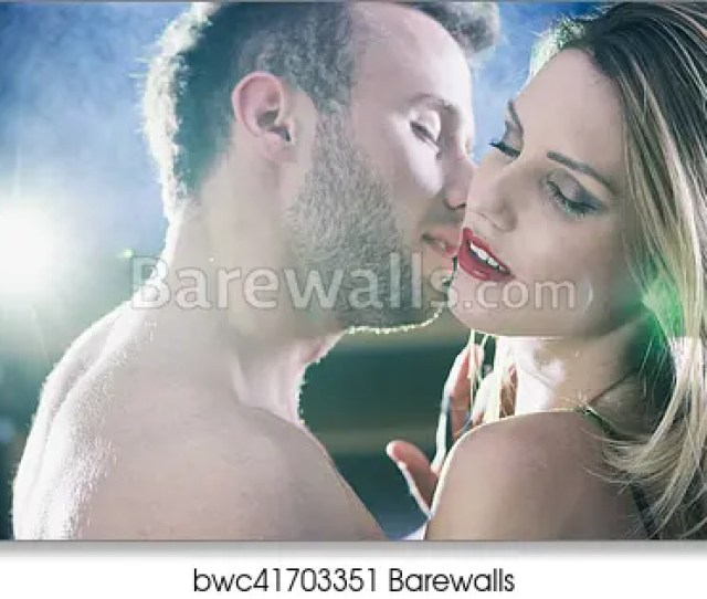 Art Print Of Lovers During Passionate Erotic Foreplay