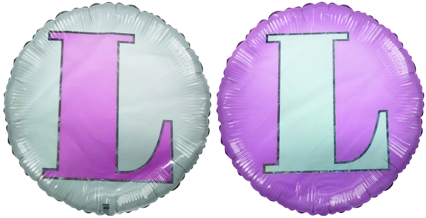 18 Classic Letter Balloon Letter L Pink White