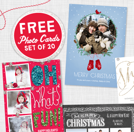 HOT 20 FREE 5x7 Christmas Cards From Walgreens