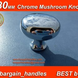 30mm Mushroom Polished Chrome Knob