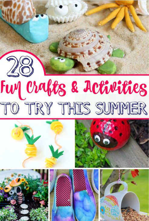 25 Fun Summer Crafts And Activity's!
