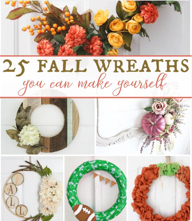 25 Fall Wreaths You Can Make Yourself!