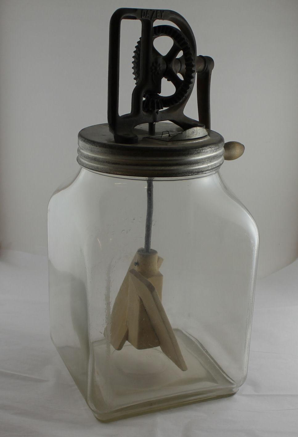Bargain John S Antiques Antique Dazey Glass Butter Churn