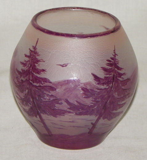 Bargain John S Antiques Antique French Cameo Vase Signed