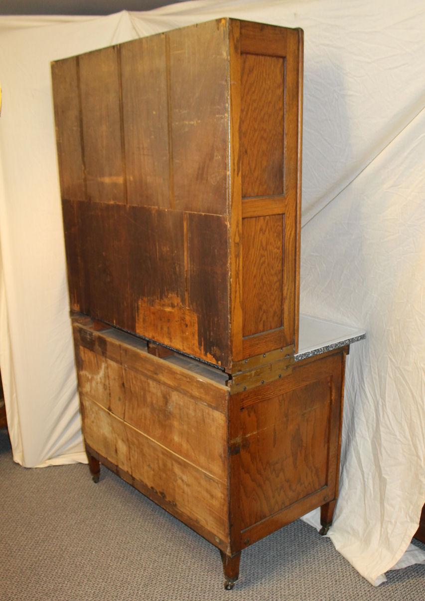 Bargain John S Antiques Oak Hoosier Kitchen Cabinet