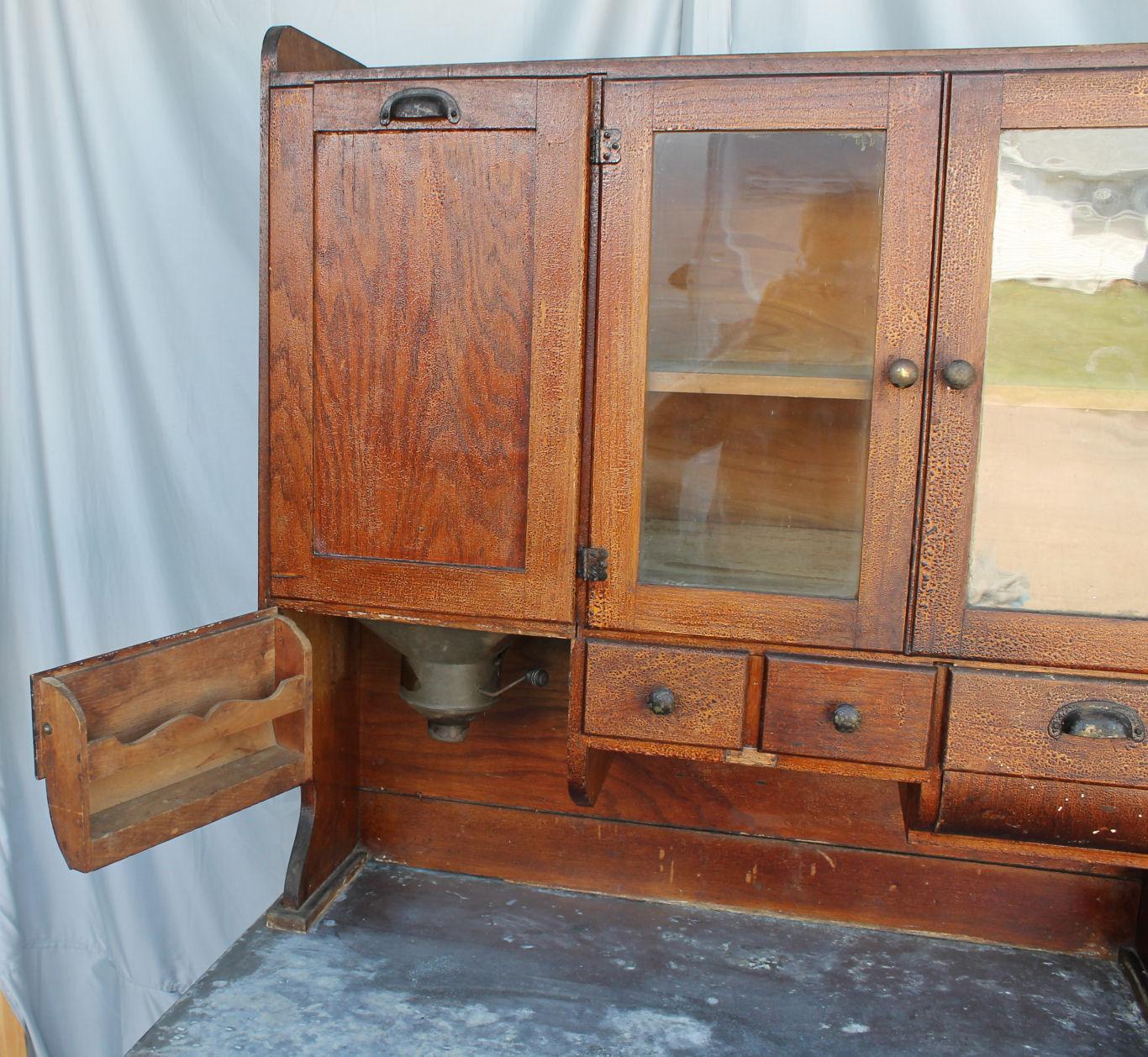 Bargain John S Antiques Antique Oak Kitchen Cabinet