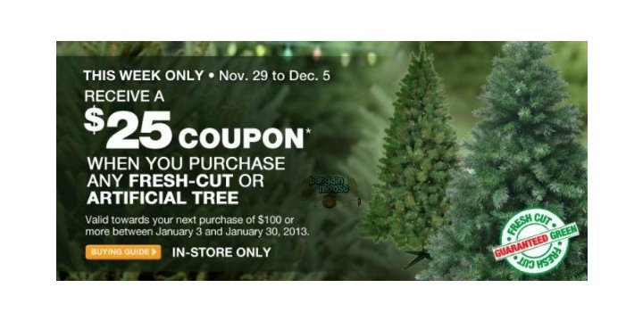 Home Depot Get A 25 Coupon W Christmas Tree Purchase