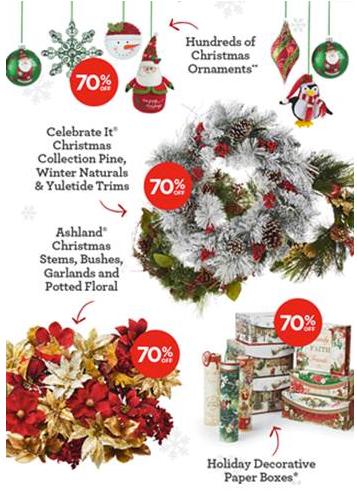 Michaels Huge Holiday Decor Sale: Save 70% off! • Bargains ...