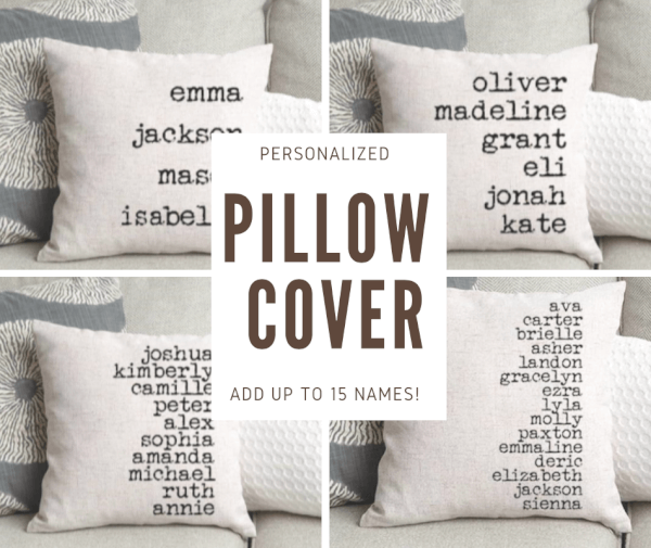 personalized pillow cover add up to