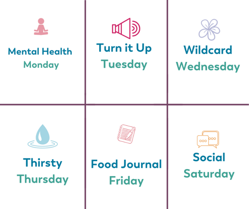 Bariatric Health Habits Daily Themes and Healthy Living Challenges