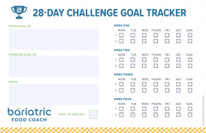 Screen Shot Image of Goal Tracker for Bariatric Food Coach Get Focused Challenge