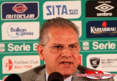 Cosmo Antonio Giancaspro, presidente del Bari