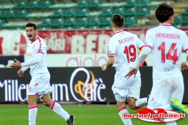 13/03/18 - Bari-Spezia 1-1: l'esultanza di Brienza dopo il goal