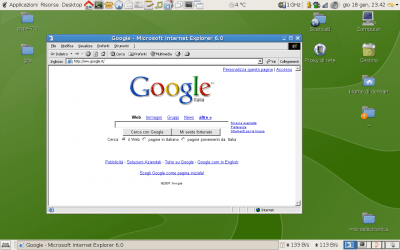 Internet Explorer 6 on Linux