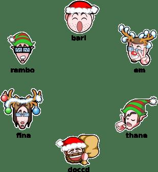 Christmas hackergotchis