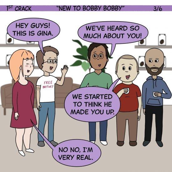 1er cómic de Crack Coffee 1 de mayo de 2021 Panel 3