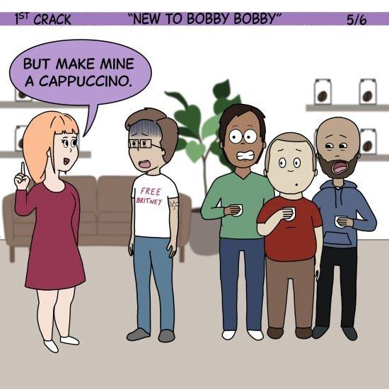 1er cómic de Crack Coffee 1 de mayo de 2021 Panel 5