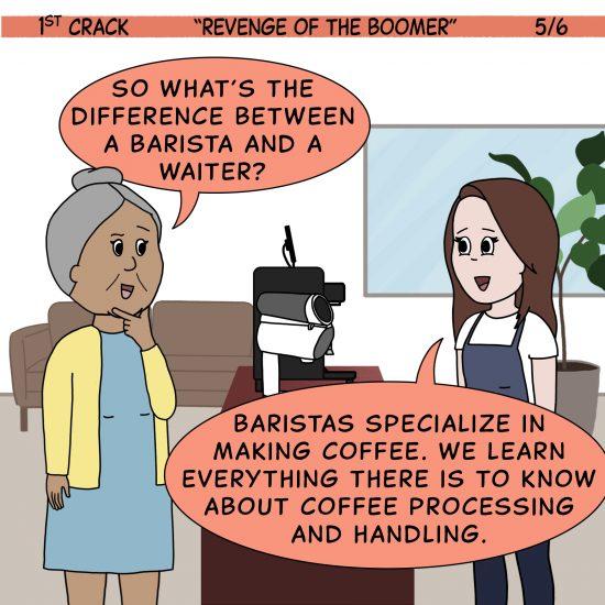 Primer cómic de Crack a Coffee para el fin de semana - 17 de julio de 2021 Panel 5