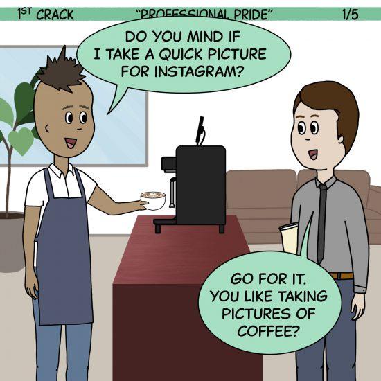 Primer cómic de Crack a Coffee para el fin de semana - 11 de septiembre de 2021 Panel 1