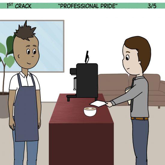 Primer cómic de Crack a Coffee para el fin de semana - 11 de septiembre de 2021 Panel 3