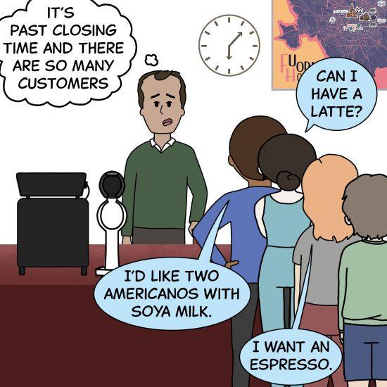 Primer cómic de Crack a Coffee para el fin de semana - 25 de septiembre de 2021 Panel 1