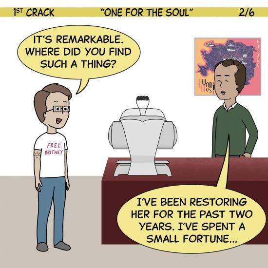 Primer cómic de Crack a Coffee para el fin de semana - 2 de octubre de 2021 Panel 2