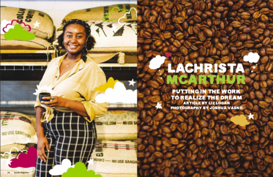 Revista Barista Artículo de portada de la edición de octubre + noviembre de 2021: LaChrista McArthur