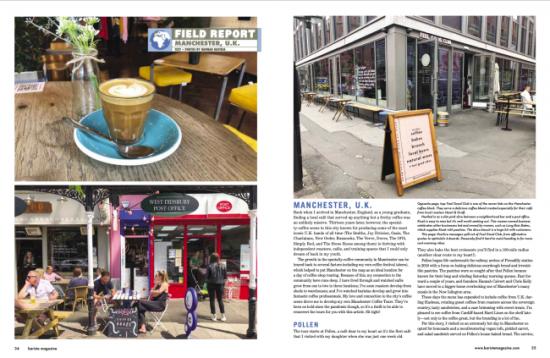 Informe de campo: Manchester, Inglaterra en la edición de octubre + noviembre de 2021 de la revista Barista