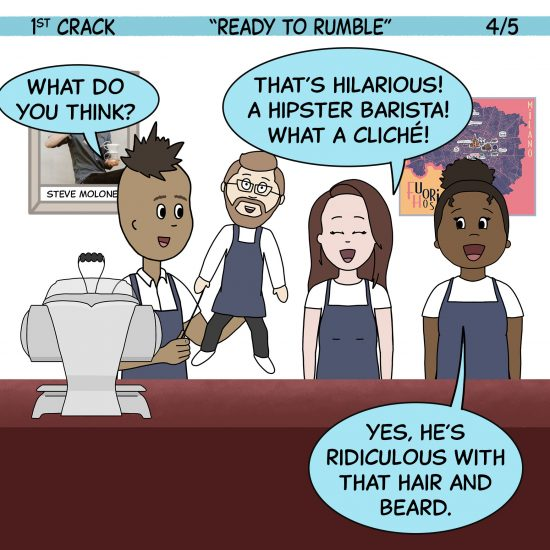 Primer cómic de Crack a Coffee para el fin de semana - 16 de octubre de 2021 Panel 4