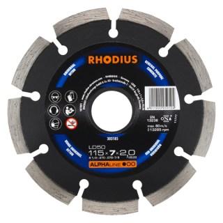 Rhodius gyémánt vágótárcsa 115X22.2X2.0 Minden termék
