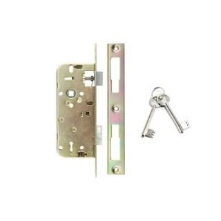 Bevésőzár bizt. 7 cm-es, 2 kulcs, szögletes, ANBO 410 Minden termék