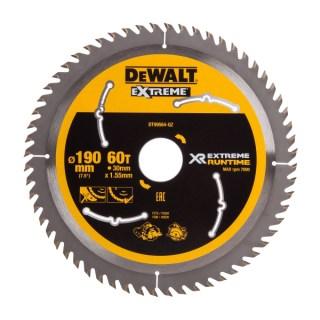 DeWALT DT99564 XR FlexVolt Körfűrészlap 190mm x 30mm 60T Minden termék