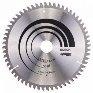 BOSCH Körfűrészlap Optiline Wood216X30MM 60F Minden termék