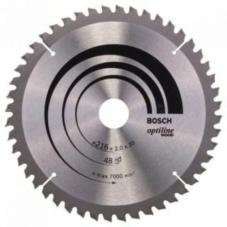 BOSCH Körfűrészlap Optiline Wood 216X30MM 48F Minden termék