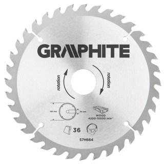 GRAPHITE Körfűrészlap185X30mm 36 fog Minden termék