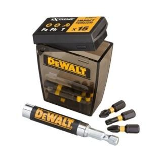 DeWALT 16 db-os bitkészlet + bit befogó Minden termék