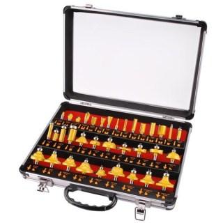 Felsőmaró Készlet 35db, (alu kofferben) 8mm keményfém lapkás Minden termék