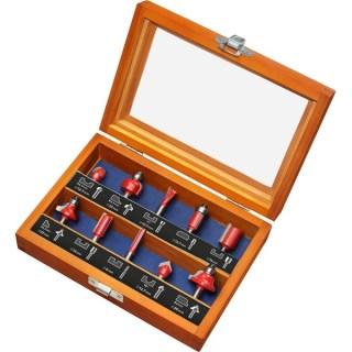 Extol Felsőmaró készlet 10 db-os (fadobozban) 6mm-es befogással Minden termék